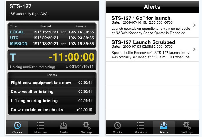 MissionClock for iPhone, iPod touch, and iPad on the iTunes App Store